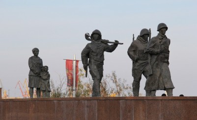The sculptural composition «Farewell on the front»