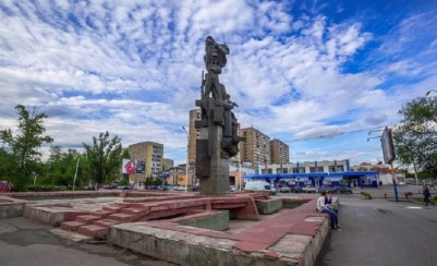Sculpture composition «Korchaginsky milatary campaign continues»