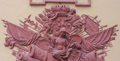 The bas-reliefs of the Summer Palace/Letny Sad in St. Petersburg