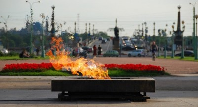 Eternal flame at the Field of Mars