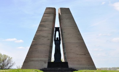 Memorial to the victims of fascism on the mine after Krasin