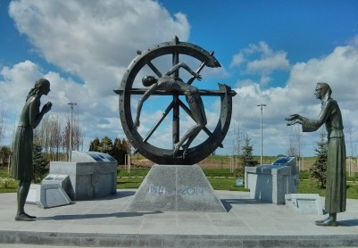 """Monument  """"To The Memory Of The Forgotten War Which Changed The Course Of History"""""""