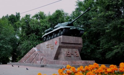 Monument to «Tankmans- heroes of the Battle of Kursk»