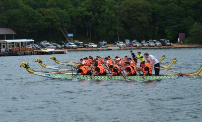 Competitions by boats Dragons