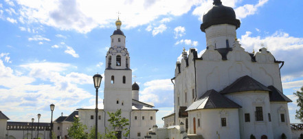 The Island town of Sviyazhsk, Raifa monastery and the Temple of all Religions